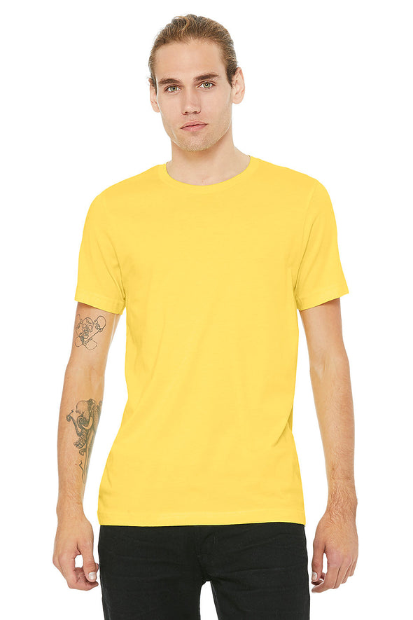 YELLOW CREW NECK ESSENTIAL TEE