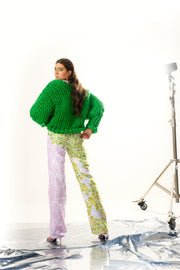 Block Green Colossal Knit Jacket