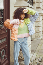 Cartoon Chunky Knit Sweater Vest