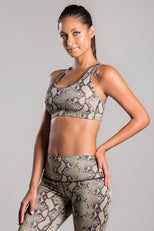 Lily Olive Snake Top