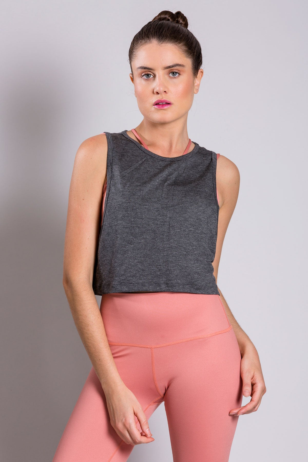 Crop Top Dark Gray T-Shirt