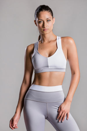 Jacqueline Due Gray Top For Body Barre