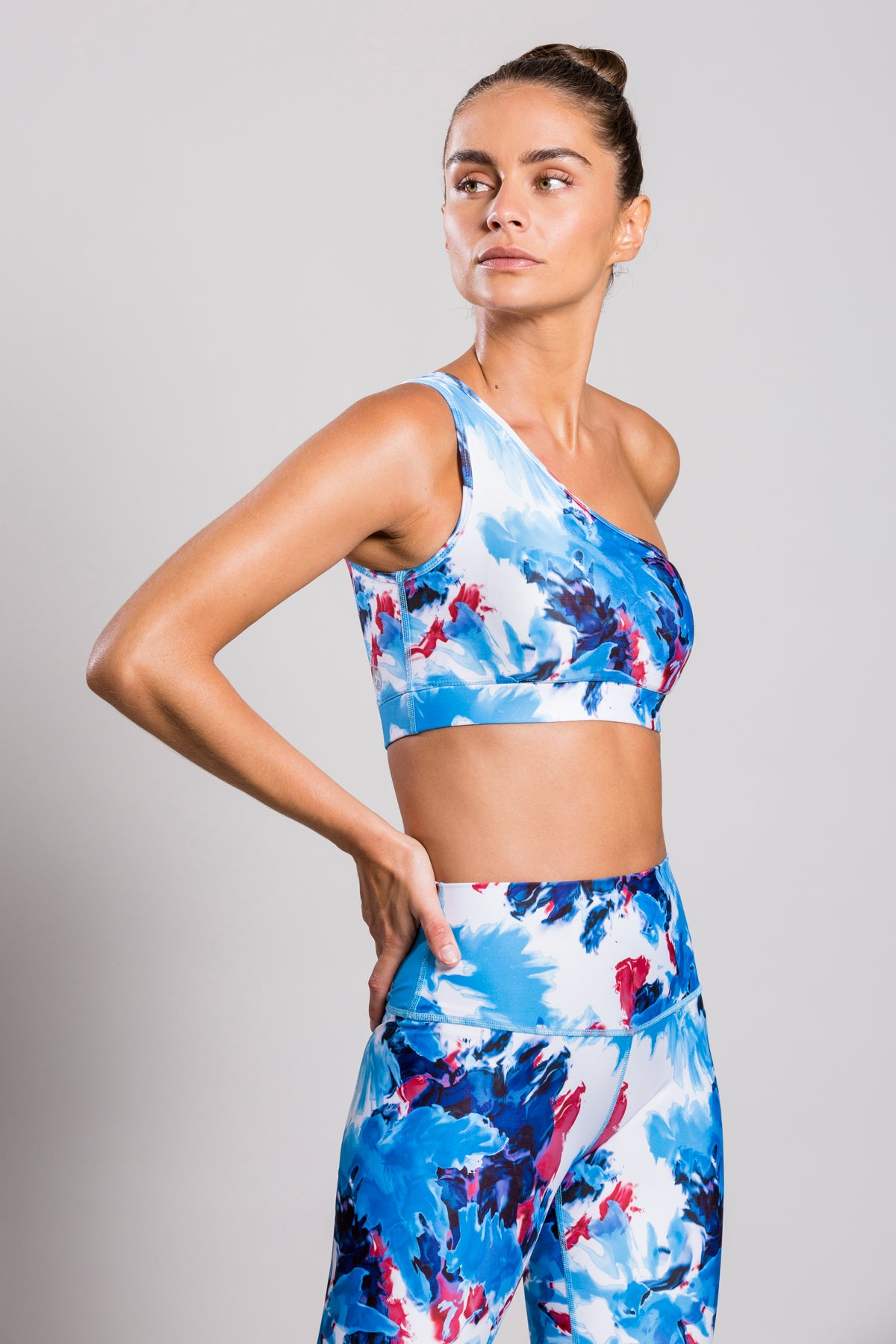 One Shoulder Splash Tie Dye Top