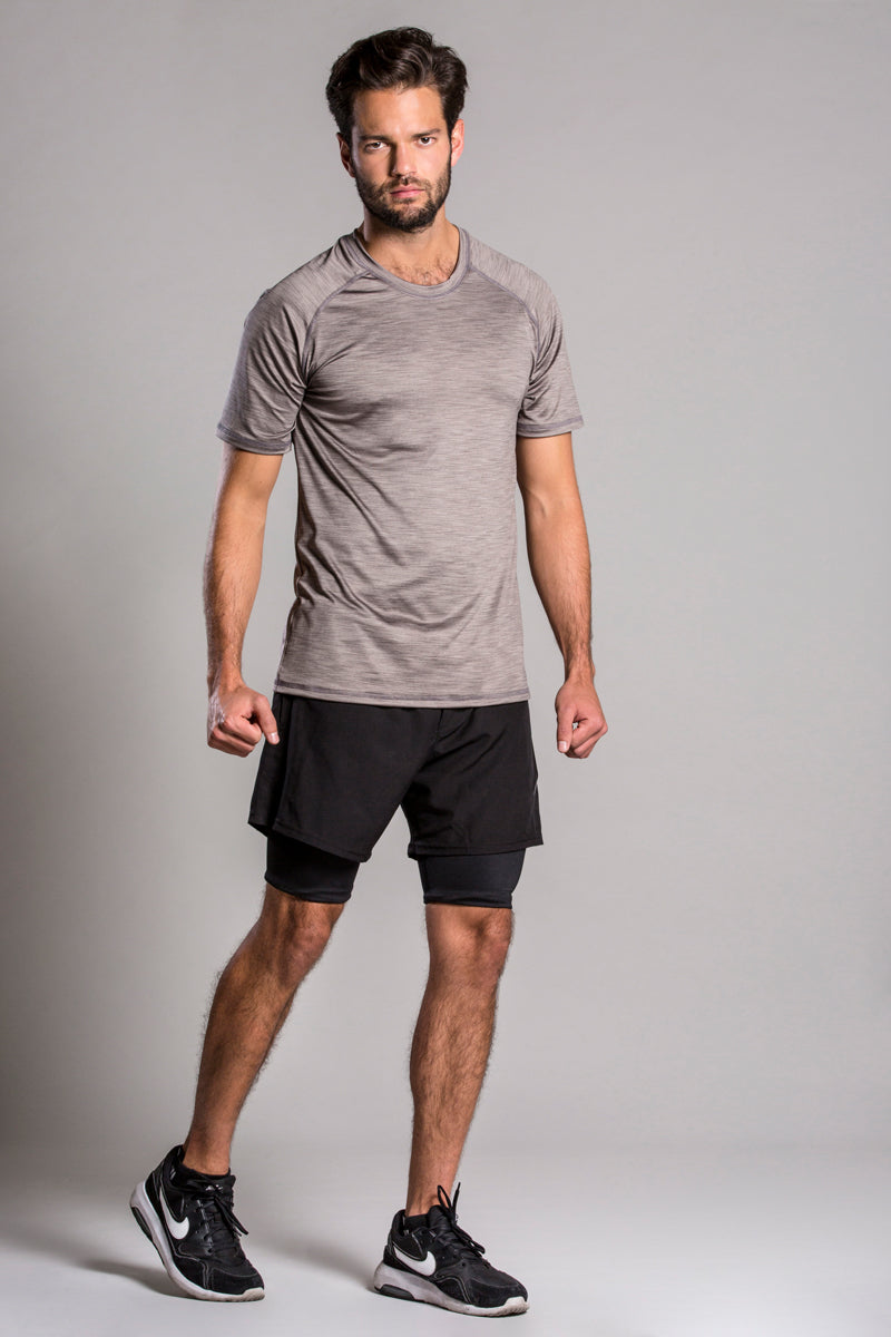 Running Biker Black Short