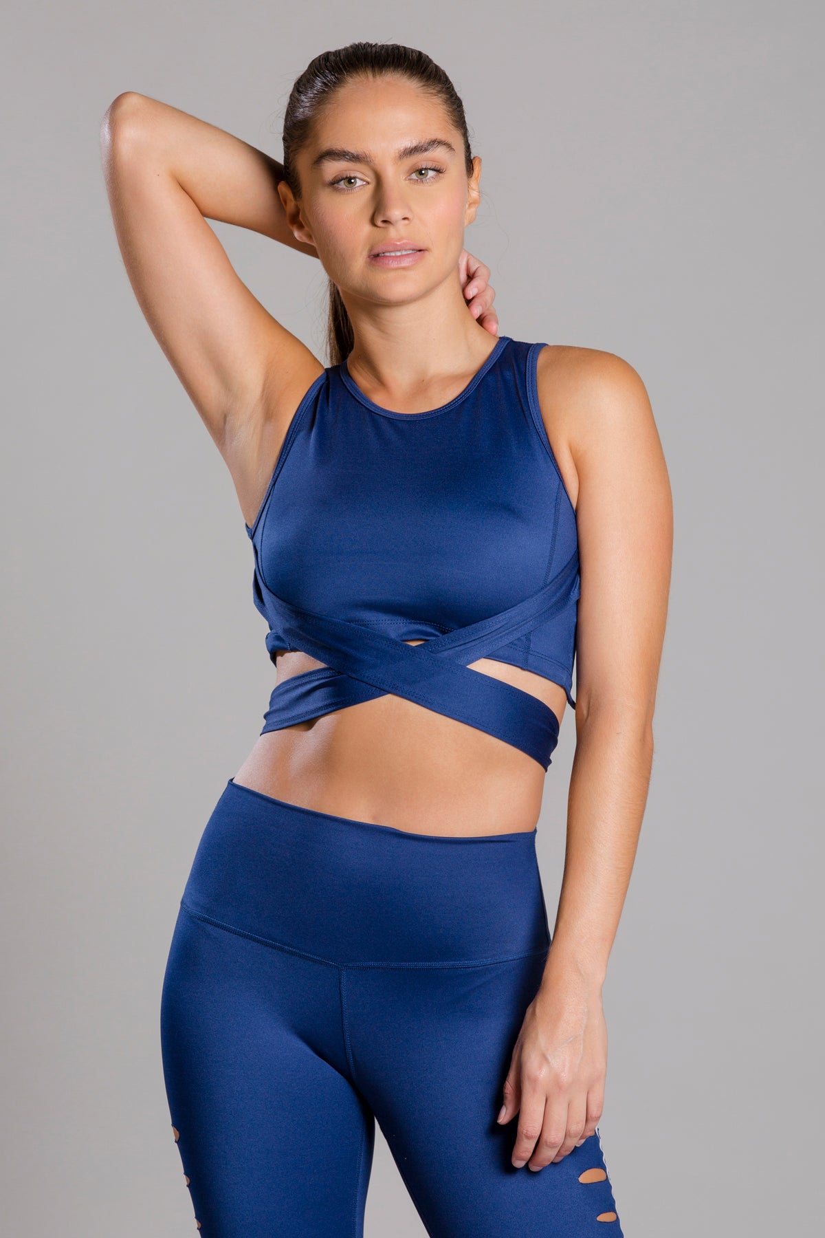 Rebeca Basic Blue Top For Cardio & Sculpt