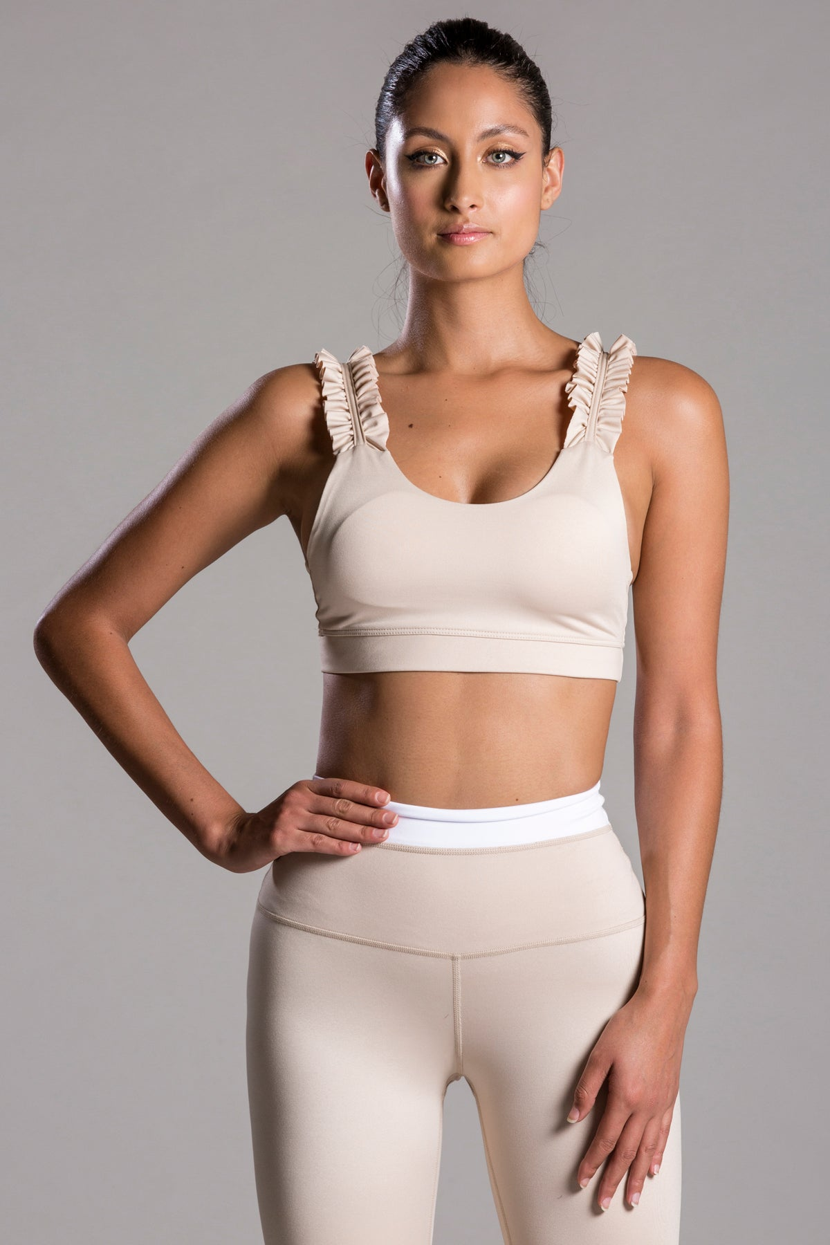 Sarah Basic Nude Top For Body Barre