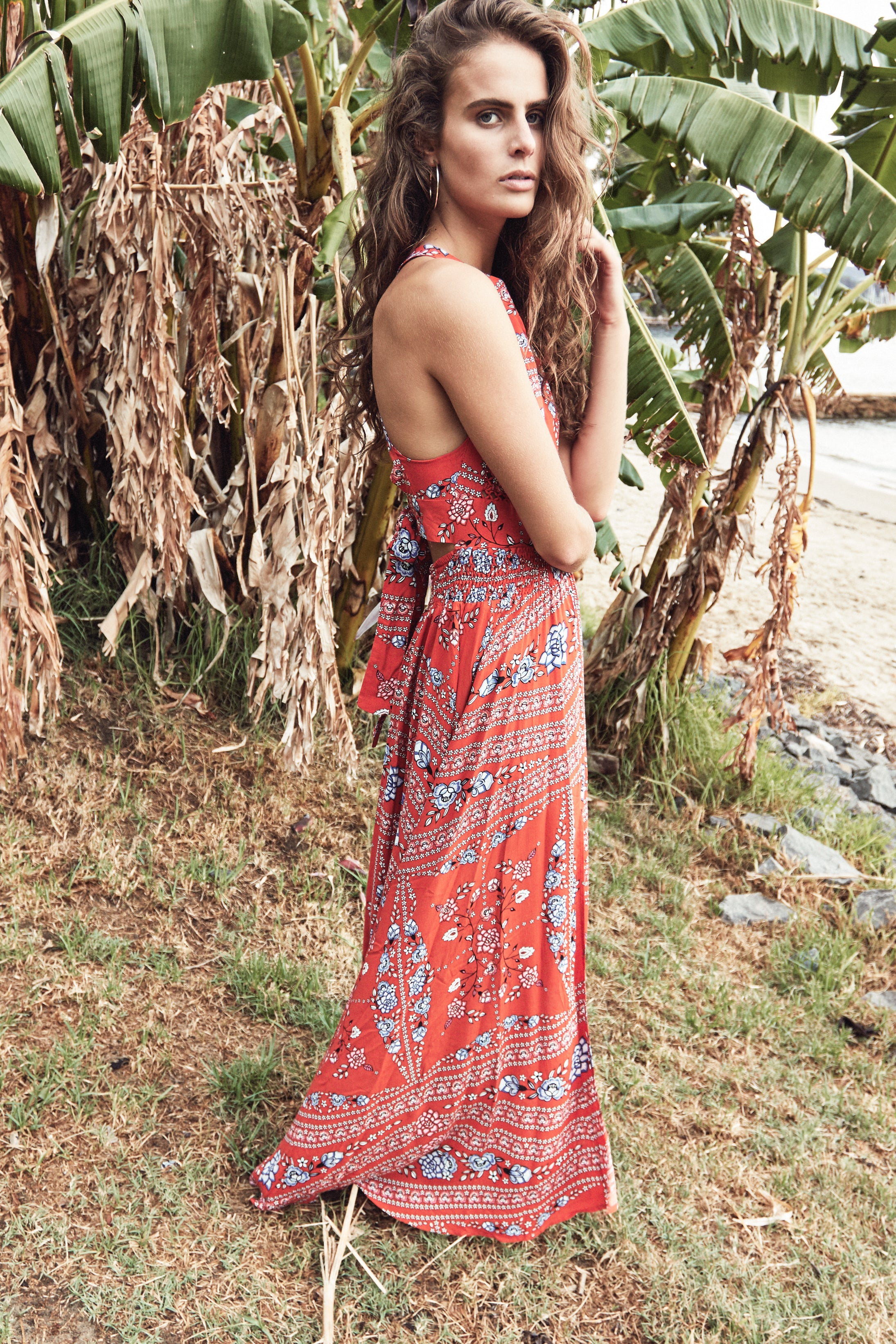 Rose Folklore Print Endless Summer Maxi