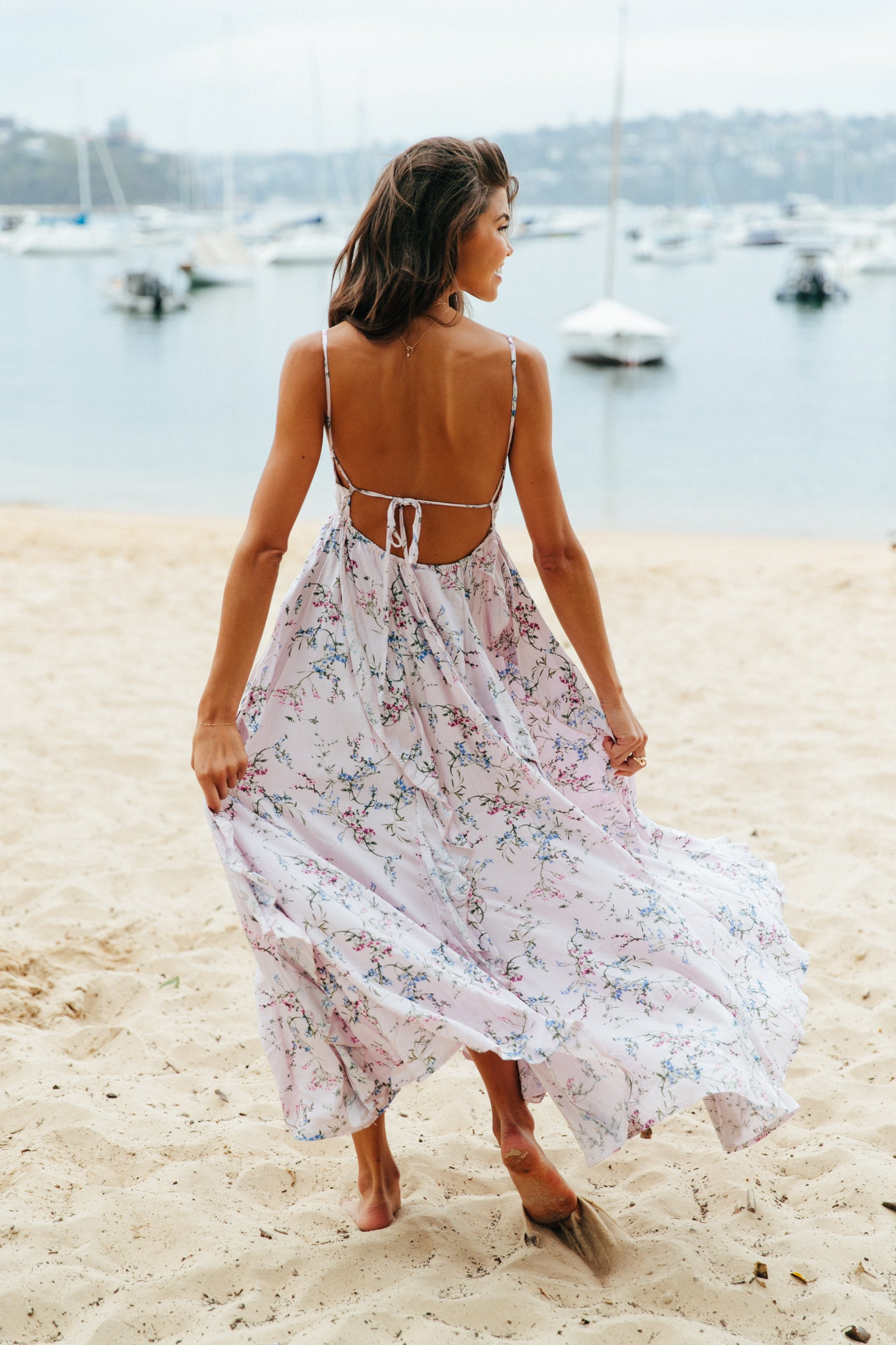 Floral Harvest Print Sassy Dress