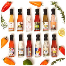 Load image into Gallery viewer, Thoughtfully Gifts, Global Spice and Sauce Set, Includes a Variety of 6 Delicious Hot Sauces and 6 Gourmet Salts, Set of 12