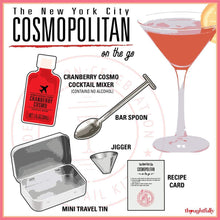 Load image into Gallery viewer, Cranberry Cosmo Cocktail Kit Travel Tin Gift Set