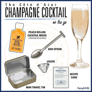 Champagne Cocktail Mixer Travel Tin Gift Set