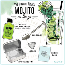 Load image into Gallery viewer, Mojito Cocktail Mixer Travel Tin Gift Set