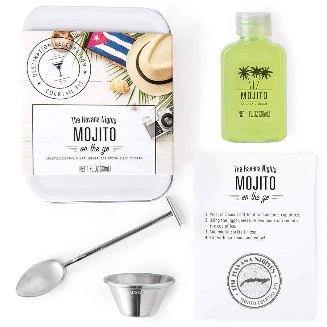 Mojito Cocktail Mixer Travel Tin Gift Set