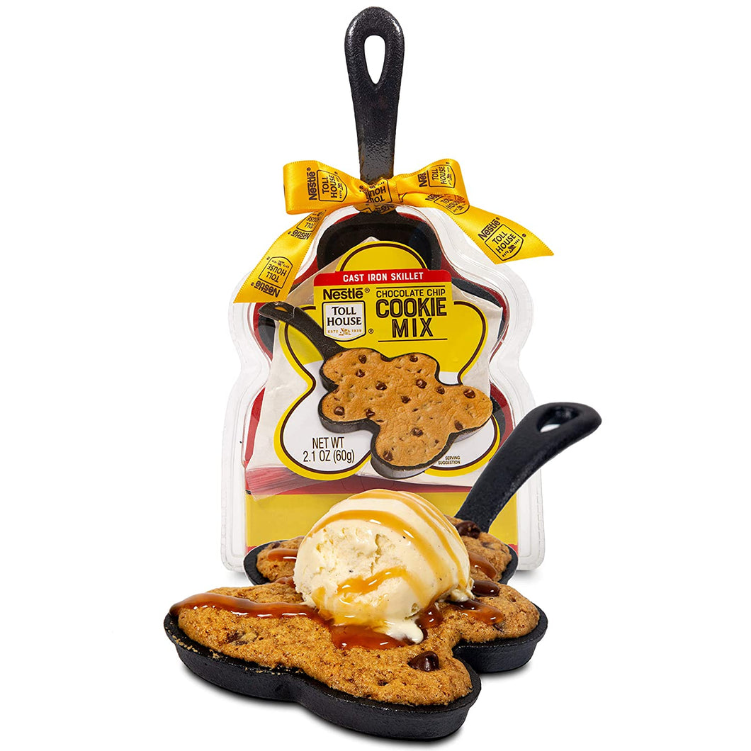 Nestle Toll House Chocolate Chip Cookie Mix: Gingerbread Man Cast Iron Skillet Edition