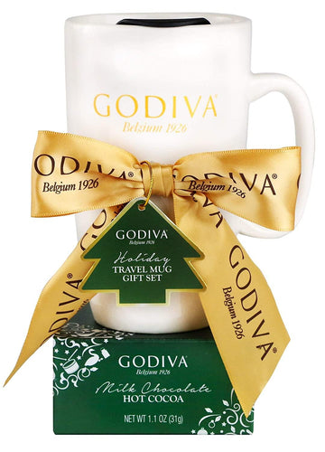 Godiva Holiday Travel Mug and Milk Chocolate