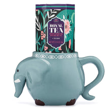 Load image into Gallery viewer, Elephant and Tea 2 Mug Gift Set