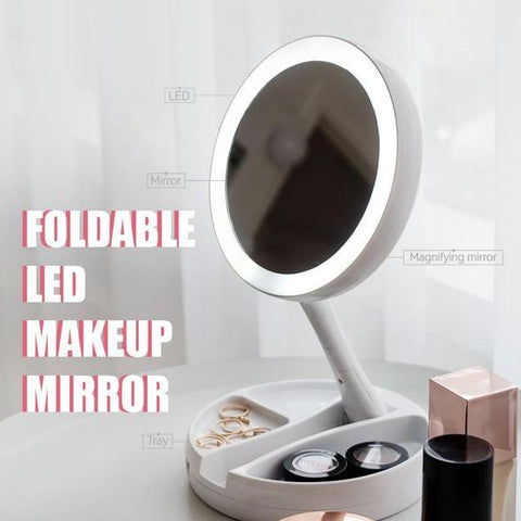 Image of Foldable LED Makeup Mirror