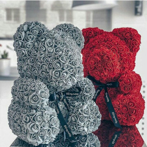 Valentines Day Romantic Teddy Bear Rose