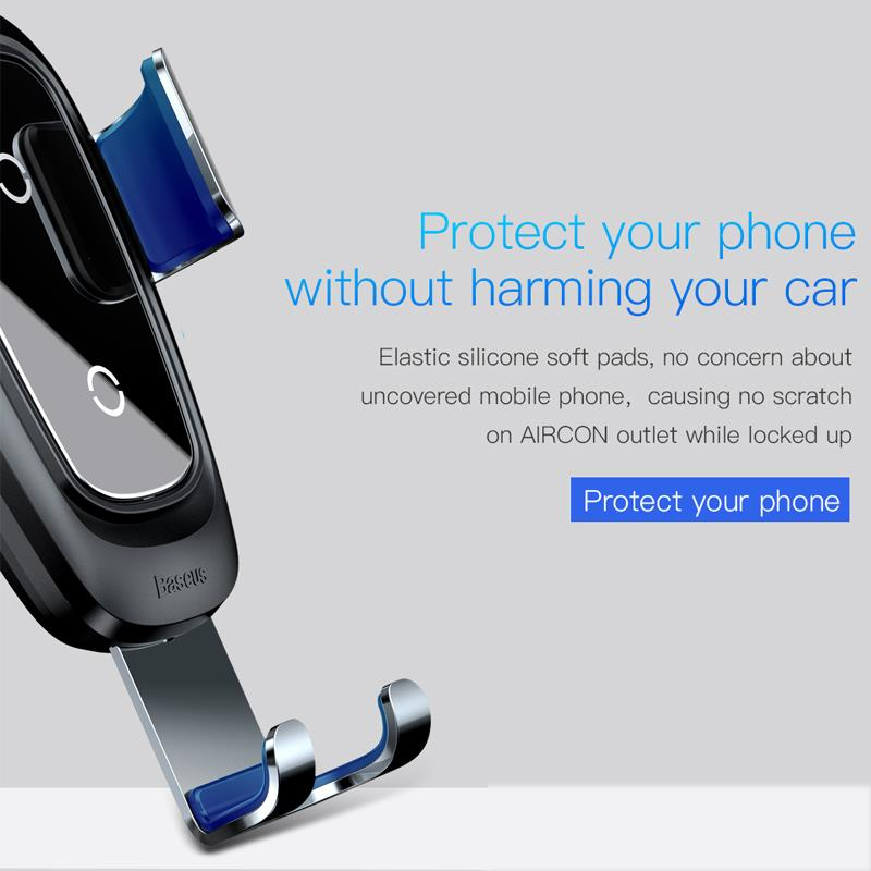 Car Phone Holder & Wireless Charger 2in1