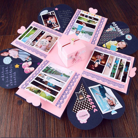 Image of DIY Explosion Gift Box Valentines Day Gift