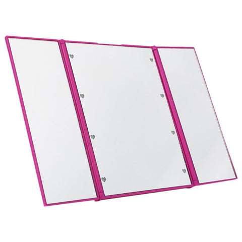 Image of Compact LED Lighted Trifold Makeup Mirror