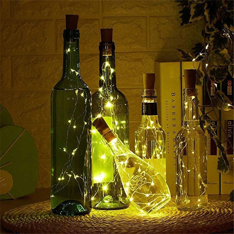 Image of 20 LED Bottle Cork Wire Lights