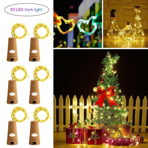 20 LED Bottle Cork Wire Lights