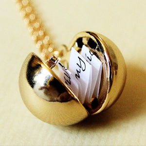 100 languages I love you Projection Pendant Necklace Romantic Round Heart Love Memory Wedding Necklace Rose Gold & Silver Gold Valentines Day Gift Bestseller