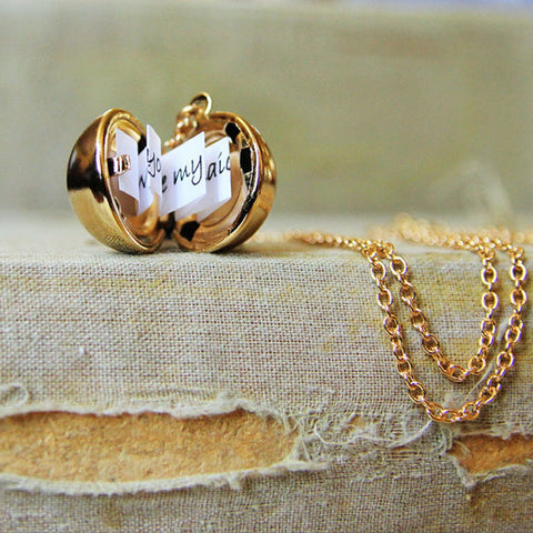 Secret Message I Love You Necklace Valentines Day Gift Anniversary Romantic Wife Girlfriend Special Gold Silver