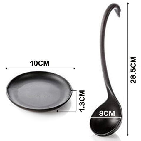 Swan Soup Spoon with Tray