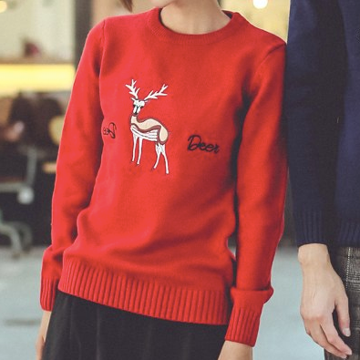 Image of Matching Christmas Sweater for Couples