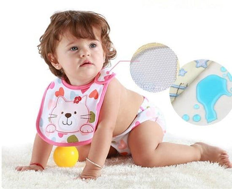 Cute Waterproof Baby Bibs