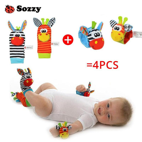 Wrist & Foot Sock Rattle Toy Set