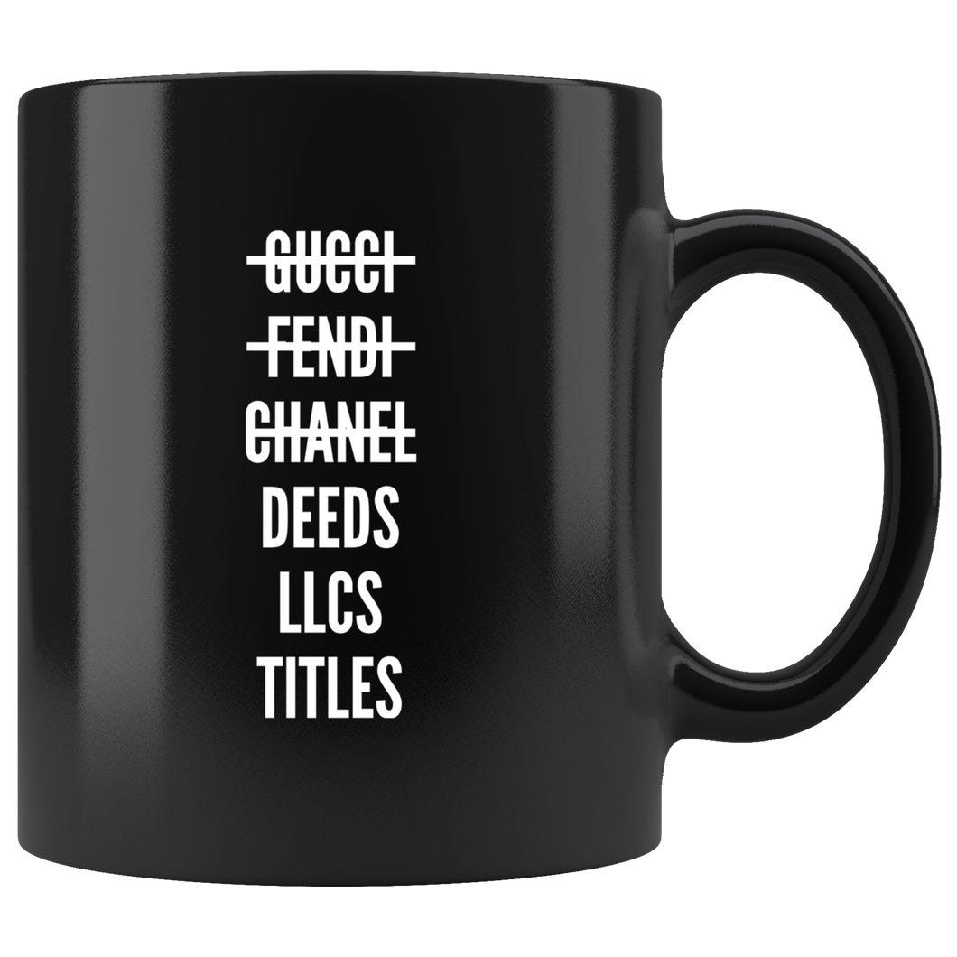Deeds. LLCs. Titles. Mug
