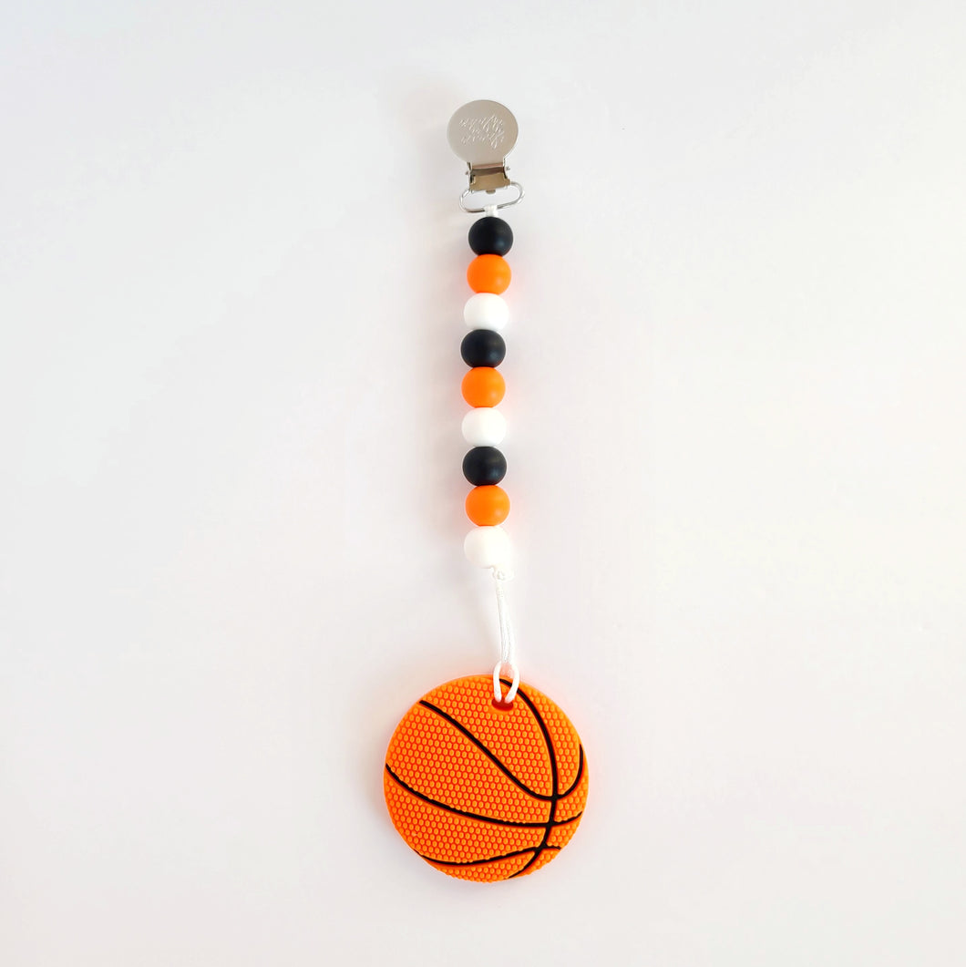BASKETBALL Teether Clip