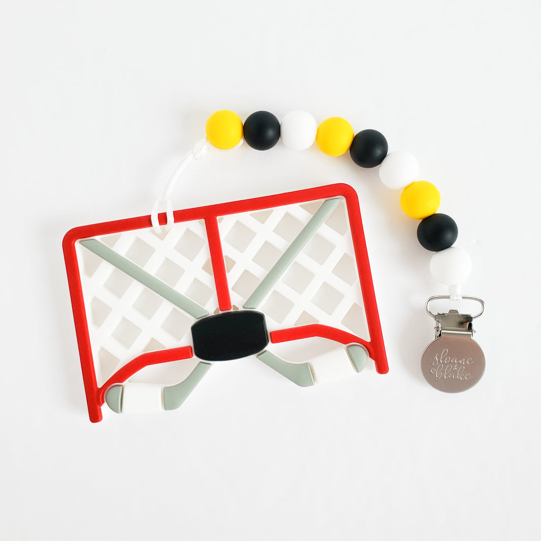 BOSTON Hockey Teether Clip