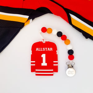 CALGARY Hockey Pacifier Clip