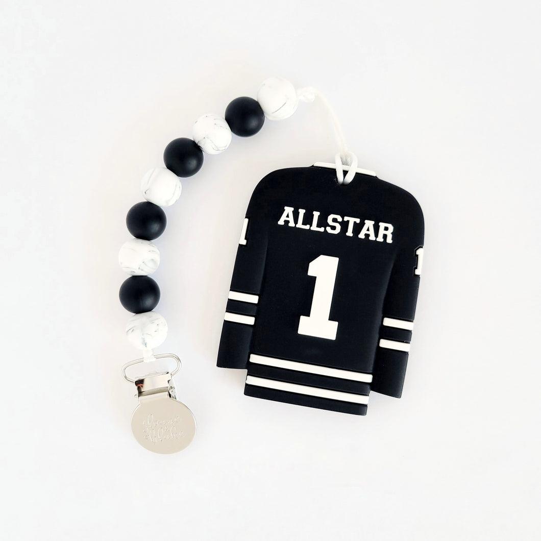 HOCKEY JERSEY Teether Clip