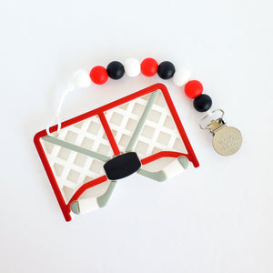 HOCKEY NET Teether Clip