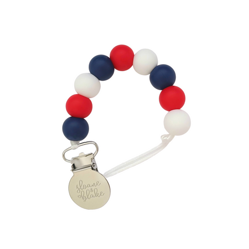 MONTREAL/WASHINGTON/NEW YORK/COLUMBUS Hockey Pacifier Clip