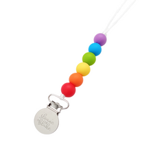 Load image into Gallery viewer, MINI Pacifier Clip - RAINBOW