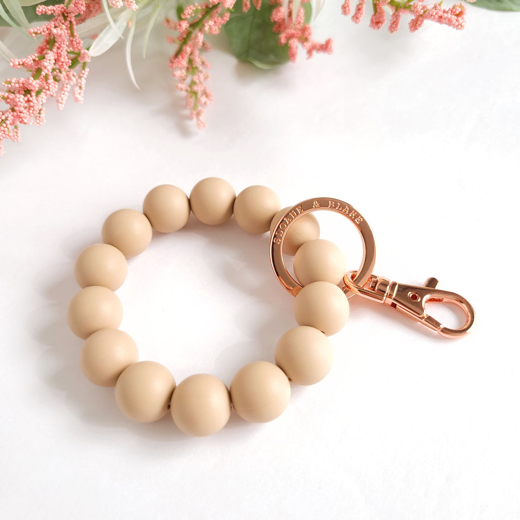 OATMEAL Bracelet Key Ring
