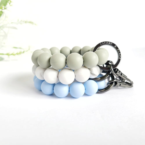 BLUE - GREY Bracelet Key Ring