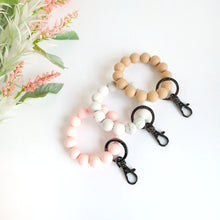 Load image into Gallery viewer, PRIMROSE PINK - OATMEAL Bracelet Key Ring