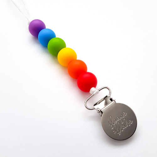 MINI Pacifier Clip - RAINBOW