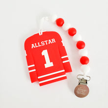 Load image into Gallery viewer, ALLSTAR Hockey Jersey Teether Clip