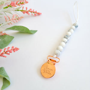 ROSE GOLD Pacifier Clip