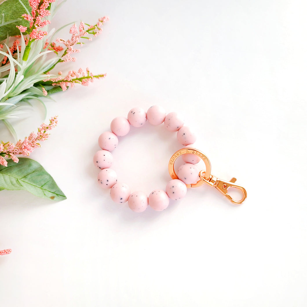 SPECKLED PINK Bracelet Key Ring