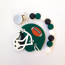 Load image into Gallery viewer, SASKATCHEWAN/NEW YORK Football Pacifier Clip
