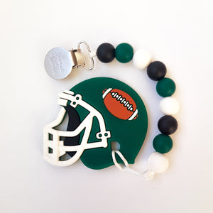 SASKATCHEWAN/NEW YORK Football Pacifier Clip